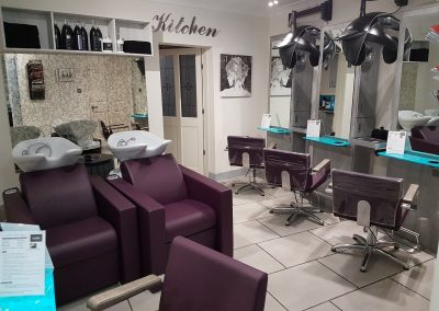 Inside Cabelo hairdressing salon